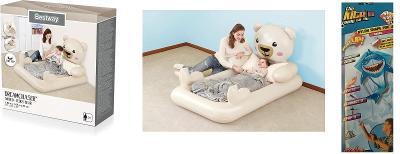 Bestway Nafukovací postel medvídek+ dárek létající drak pop up