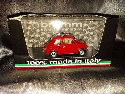 MODEL AUTA BRUMM 1: 43 FIAT 500 F 1965 ROSSO