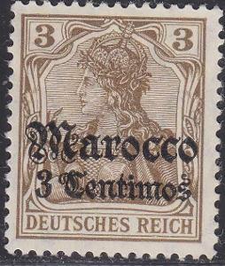 Deutsche Auslandpostämter MAROKO MiNr 34*