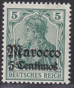 Deutsche Auslandpostämter MAROKO MiNr 35*