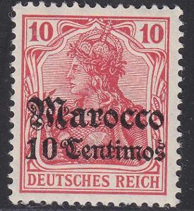 Deutsche Auslandpostämter MAROKO MiNr 36**