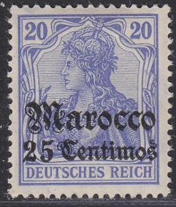 Deutsche Auslandpostämter MAROKO MiNr 37*