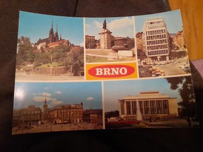 Pohlednice Brno neprošlé poštou