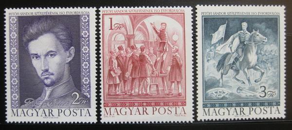 Maďarsko 1972 Sándor Petofi Mi# 2828-30 0313