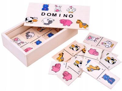 Ilustrovaný domino pro děti zvířat ZA2515 AKCE!