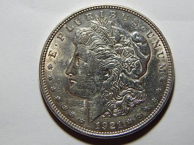 USA 1 Dollar Morgan 1921 Ag UNC č24326