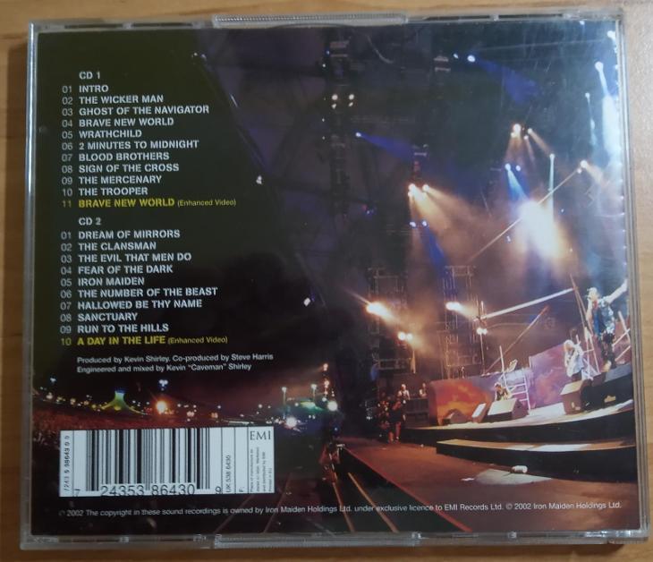 IRON MAIDEN-Rock in Rio-original 2 CD - Hudba