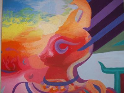 AFRIKA, akryl na sololitu, 50 x40 cm