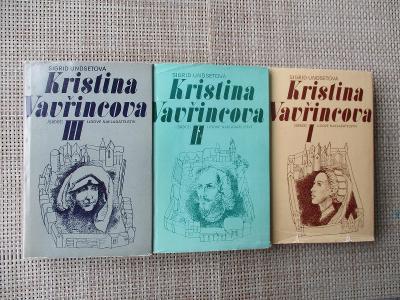 Undsetová Sigrid 3x - Kristina Vavřincova I Věnec & II Paní & III Kříž