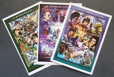 Mali 1997 filmové hvězdy - Star Wars, 3x aršík, kat.cena 30Euro!