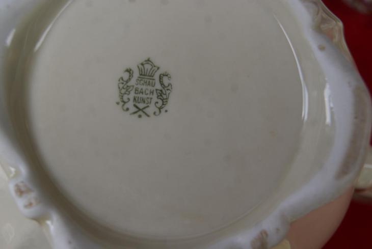Cajovy servis-SCHAUBACH-1920-TOP !!! - Porcelán