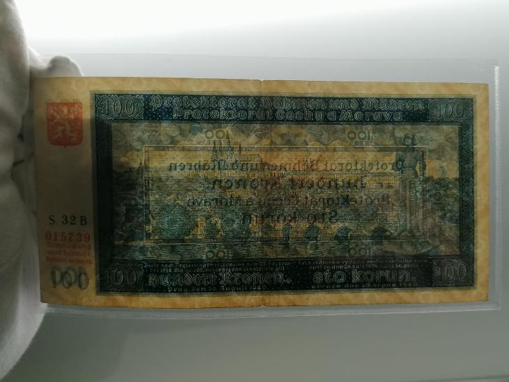 100 K 1940 I. vydání, série 32 B, stav 2 - Bankovky