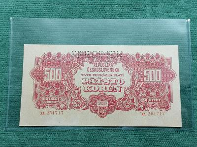 500 K 1944, série XA, SPECIMEN, stav UNC