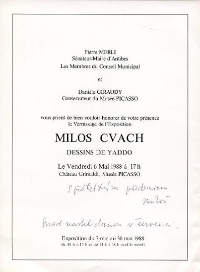Miloš Cvach (PODPIS) ** - Ostatní