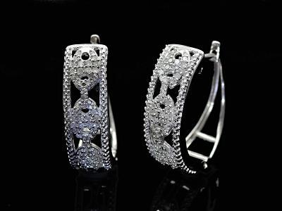 Diamantové 925 naušnice- 0,50Ct