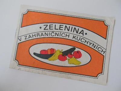 Stará brožura zelenina v zahraničních kuchyních