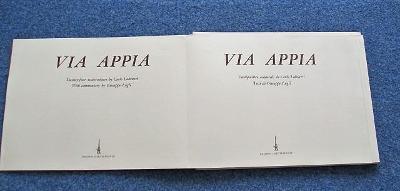 Labruzzi VIA APPIA akvarelové obrazy, tekst Giuseppe Lugli ed