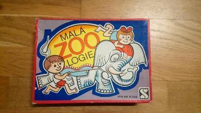 Stará retro naučná dětská hra Malá ZOOlogie styl Plzeň