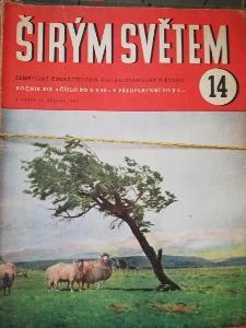 ŠIRÝM SVĚTEM starý časopisy - čísla z roku 1943, 1942, 1941