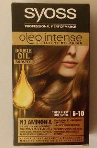 NOVÁ  Barva na vlasy : SYOSS Oleo Intense Color 6-10 Tmavě plavý