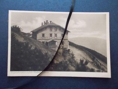 Sudety Sudetengau Jeseníky Frývaldov Šerák Jiřího chata razítko 1928