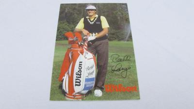 BERNHARD LANGER originál autogram 2x MASTERS PGA golf SVĚTOVÁ JEDNIČKA