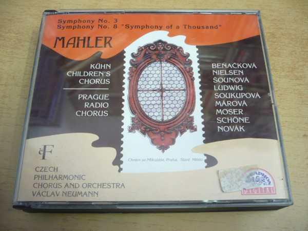 3 CD-SET: MAHLER / Symphony No.3 No.8 - Hudba