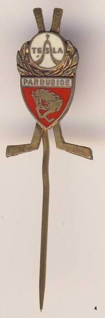 Odznak - Pardubice , hokej , tesla , /A12/
