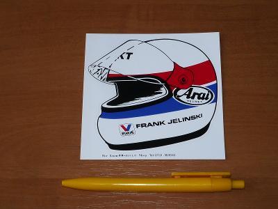 Frank JELINSKI (Porsche etc.), helma - samolepka