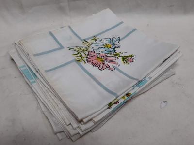 Hezké květované kapesníčky  9x (316)