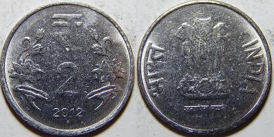 Indie 2 Rupees 2012 diamant XF č11633