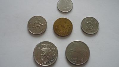 Ruzné mince-6.Ks. - 100.-