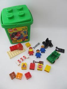 Lego DUPLO dělnice stavitel figurky kostky BOX