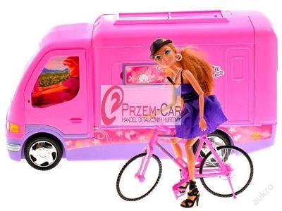 CAR Doll Pink Camper + kolo 3 L + HIT AKCE!