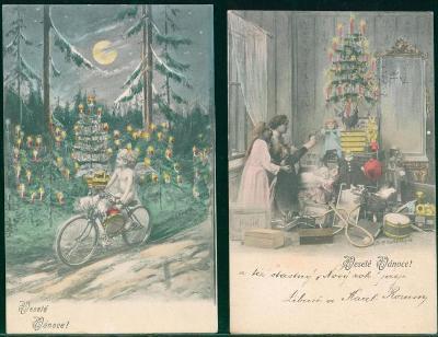 25A386 Pohlednice - Veselé vánoce 2 ks