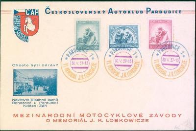 10B1739 Československý autoklub Pardubice/ memoriál LOBKOWITCZE 1937