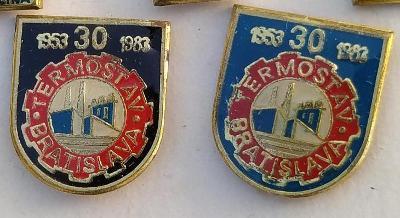 P63 Odznak TERMOSTAV Bratislava   2ks