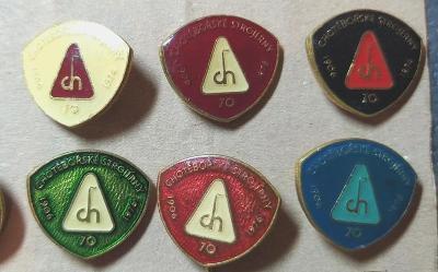 P77 Odznak Chotěbořské strojírny  6ks