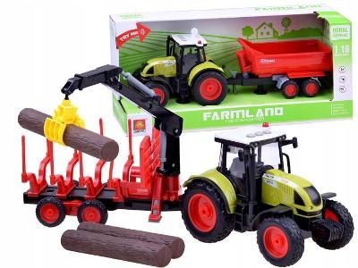 Traktor + přívěs zemědělský stroj ZA2436 AKCE!