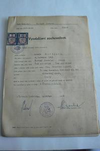 STARÉ DOKUMENTY - 1946 - VYSVĚDČENÍ ZACHOVALOSTI 27 KS