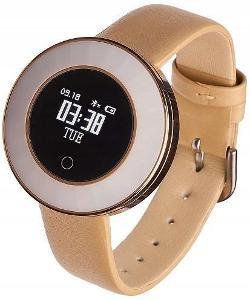 Smartwatch Garett Women Lea gold, kůže IP68