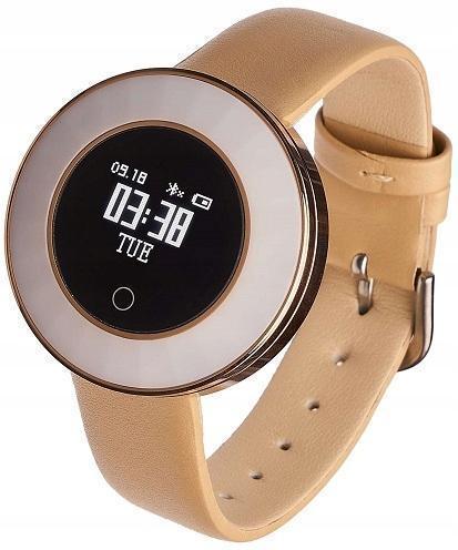 Smartwatch Garett Women Lea gold, kůže IP68 - Chytrá elektronika
