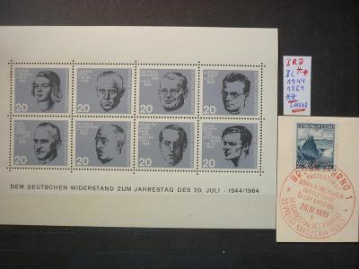 50  GEBURTSTAG ADOLF HITLER -1939+ BLOK  ATENTÁTNÍCI STAUFFENBERG !! R
