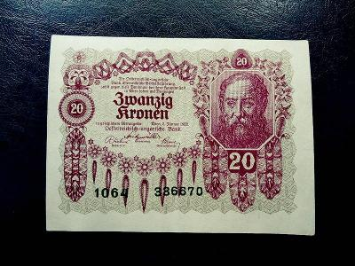 20 kronen 1922 LUXUSNI Stav
