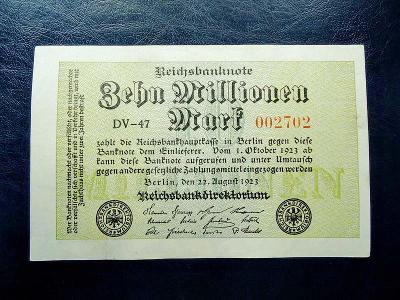 10 miliionen mark 1923 UNC