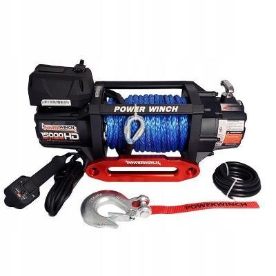 Electricky Naviják PW15000 Extreme HD 12V se syntetickým lanem