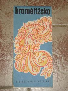 mapa Kroměříž 1986