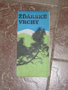 mapa Žďárské vrchy 1978