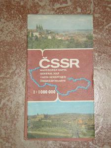 2 x mapa ČSSR 1985, 1989