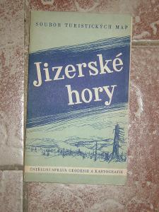2 x mapa Jizerské hory 1958,1974